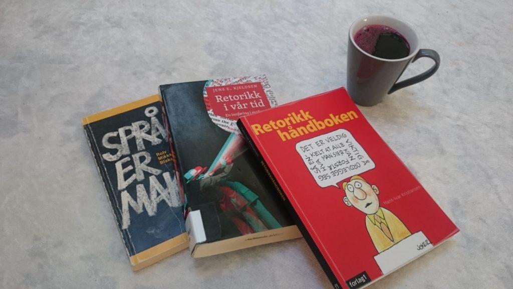 Gode bøker om språk og retorikk.