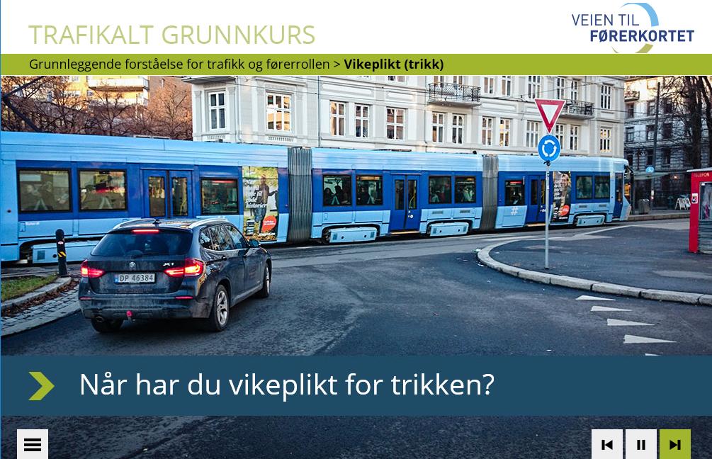 Undervisningsverktøyet for Trafikalt Grunnkurs ble utviklet i tett samarbeid med fagkonsulent. Pedagogikk, struktur, oppgavetekster, fotos og grafikk ble nøye tilpasset formålet.