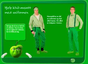 Kiwi-Personalrutiner-Uniform