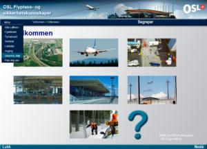 Nettkurs-OSL-Flyplass-og-sikkerhetskunnskaper-Meny