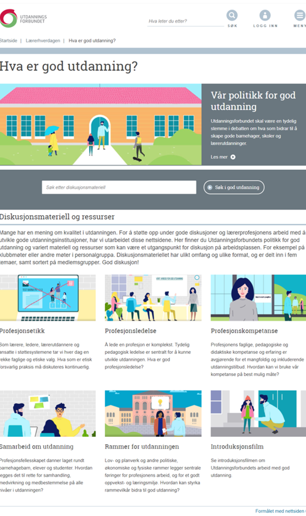 Nettsider om God utdanning
